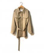 CADUNE(カデュネ)の古着「シャツジャケット」 ベージュ