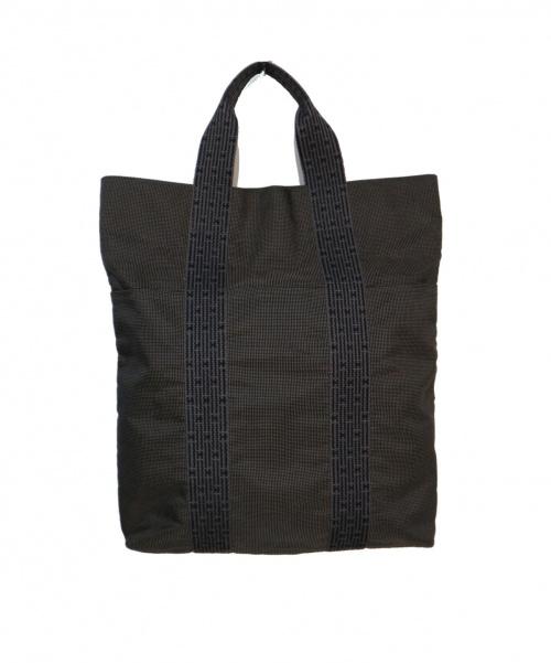 HERMES(エルメス)HERMES (エルメス) 縦型エールライントートバッグ グレーの古着・服飾アイテム