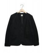 orSlow(オアスロウ)の古着「ノーカラージャケット」|ブラック