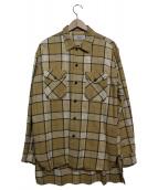 UNUSED(アンユーズド)の古着「チェックネルシャツ」|ベージュ