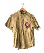 ()の古着「リネンシャツ」|ベージュ
