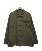 Buzz Ricksons()の古着「HERRINGBONE USMC JACKET」|オリーブ
