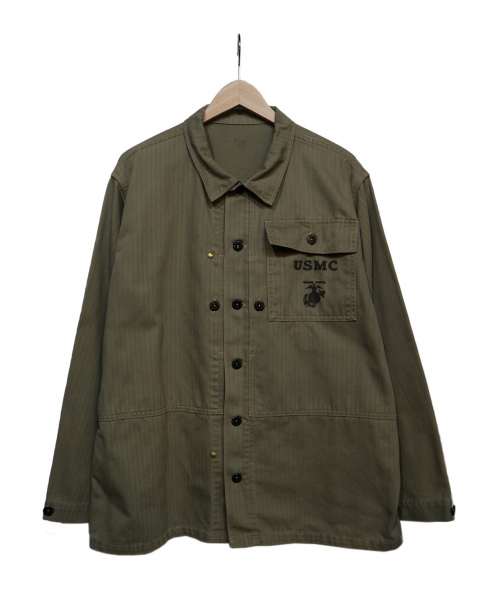 Buzz Ricksons(バズリクソンズ)Buzz Ricksons (バズリクソンズ) HERRINGBONE USMC JACKET オリーブ サイズ:40の古着・服飾アイテム
