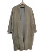 mizuiro-ind(ミズイロインド)の古着「ボアVネックコート」|グレー