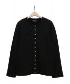 agnes b homme(アニエスベーオム)の古着「カーディガンプレッション」|ブラック