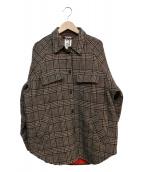 Traditional Weatherwear(トラディショナルウェザーウェア)の古着「SP SHT ジャケット」|ブラック×ブラウン