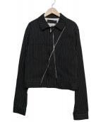 HAIDER ACKERMANN(ハイダーアッカーマン)の古着「ストライプジャケット」|ブラック