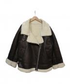Ungrid(アングリッド)の古着「フェイクムートンボリュームコート」 ブラック