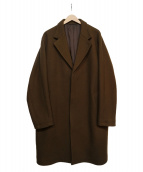 STEVEN ALAN(スティーヴンアラン)の古着「100S MELTON CHESTER COAT」 ブラウン