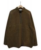 Graphpaper(グラフペーパー)の古着「Wool Boa Hi-Neck Pullover」 ブラウン