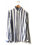 GUY ROVER(ギローバー)の古着「ストライプシャツ」|ブルー×ホワイト