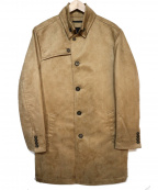 NICOLE CLUB FOR MEN()の古着「ナポレオンカラーシングルコート」|キャメル