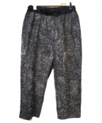 Porter Classic(ポータークラシック)の古着「PEELED CLOTH WIDE PANTS」|ブラック