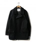 FIDELITY()の古着「Wool Melton 10 Button P-Coat」|ブラック