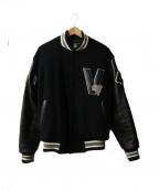 VAN JAC(ヴァンジャック)の古着「桜獅子ワッペンスタジャン」|ブラック