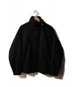 BASISBROEK(バージスブルック)の古着「HODY/スタンドカラーウールブルゾン」|ブラック