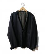 KANATA(カナタ)の古着「カシミヤ混ノーカラージャケット」 ブラック