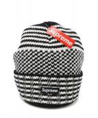 SUPREME(シュプリーム)の古着「Wool Jacquard Beanie」|ホワイト×ブラック