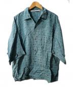 JOURNAL STANDARD(ジャーナルスタンダード)の古着「Rayon Psyche Jacquardシャツ」|ブルー