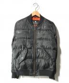 BLACK LABEL CRESTBRIDGE(ブラックレーベルクレストブリッジ)の古着「MA-1ダウンジャケット」|ブラック