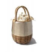 ELENDEEK(エレンディーク)の古着「バスケットエコレザーバッグ」|ベージュ