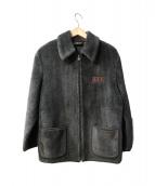 FENDI jeans(フェンディージーンズ)の古着「【OLD】ポイントズッカエコボアジャケット」|チャコールグレー