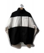 I AM WHAT I AM(アイアムワットアイアム)の古着「オーバーサイズバックロゴトラックジャケット」|ホワイト×ブラック