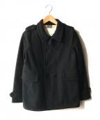 BURBERRY CHILDREN(バーバリー チルドレン)の古着「カシミヤ混メルトン中綿ジャケット」 ネイビー