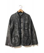 Porter Classic(ポータークラシック)の古着「PEELED CLOTH CHINESE JACKET」|ブラック