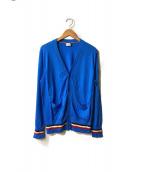MONCLER(モンクレール)の古着「カシミヤシルク混カーディガン」|ブルー
