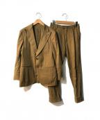 CARUSO(カルーゾ)の古着「チーフ付2Bスーツ」|ブラウン