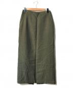 SLOBE IENA(スローブ イエナ)の古着「ツイルロングタイトスカート」|グリーン