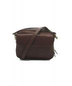 青木鞄(アオキカバン)の古着「NEVADA レザーショルダーバッグ」|ブラウン
