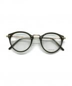 EYEVAN(アイヴァン)の古着「眼鏡」 ブラック×ゴールド