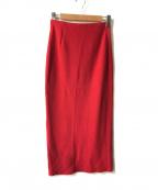 AK+1()の古着「スリットタイトスカート」 レッド
