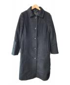 ()の古着「アンゴラビーバーコート」 ブラック