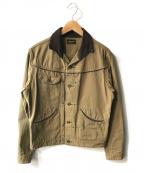 Stevenson Overall Co.(スティーブンソンオーバーオール)の古着「ワークジャケット」|カーキ