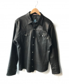 GUILD PRIME(ギルドプライム)の古着「シープレザーウエスタンジャケット」 ブラック
