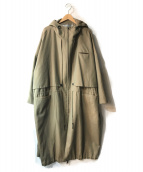 ()の古着「よそいきBIGフラップロングCT」|ベージュ