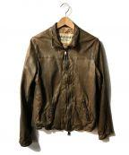 GIORGIO BRATO(ジョルジオ ブラッド)の古着「ゴートレザーライダースジャケット」 ブラウン