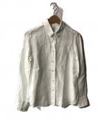 finamore(フィナモレ)の古着「リネンシャツ」 ホワイト