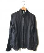 finamore(フィナモレ)の古着「リネンシャツ」 ブラック
