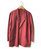 PAPAS(パパス)の古着「シルク混アンコンジャケット」 レッド