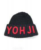 Y-3(ワイスリー)の古着「ローゲージニット帽」|ブラック