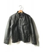 Haruf(ハルフ)の古着「ホースハイドジャケット」|ブラック