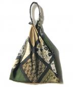 manipuri(マニプリ)の古着「スカ-フハンドバッグ」 グリーン