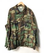 US ARMY(ユーエスアーミー)の古着「【OLD】ウッドランドカモリメイクミリタリージャケット」|オリーブ