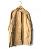 MUVEIL Work(ミュベールワーク)の古着「バック切替スタンドカラーラグランコート」 ベージュ