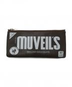 MUVEIL(ミュベール)の古着「ロゴマルチケース」|ダークブラウン