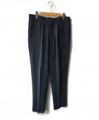 H BEAUTY&YOUTH()の古着「DOUBLE CLOTH TUCK PANTS」|ネイビー